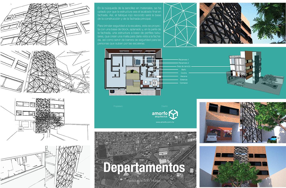 Diseño de departamentos combinando block y tabique