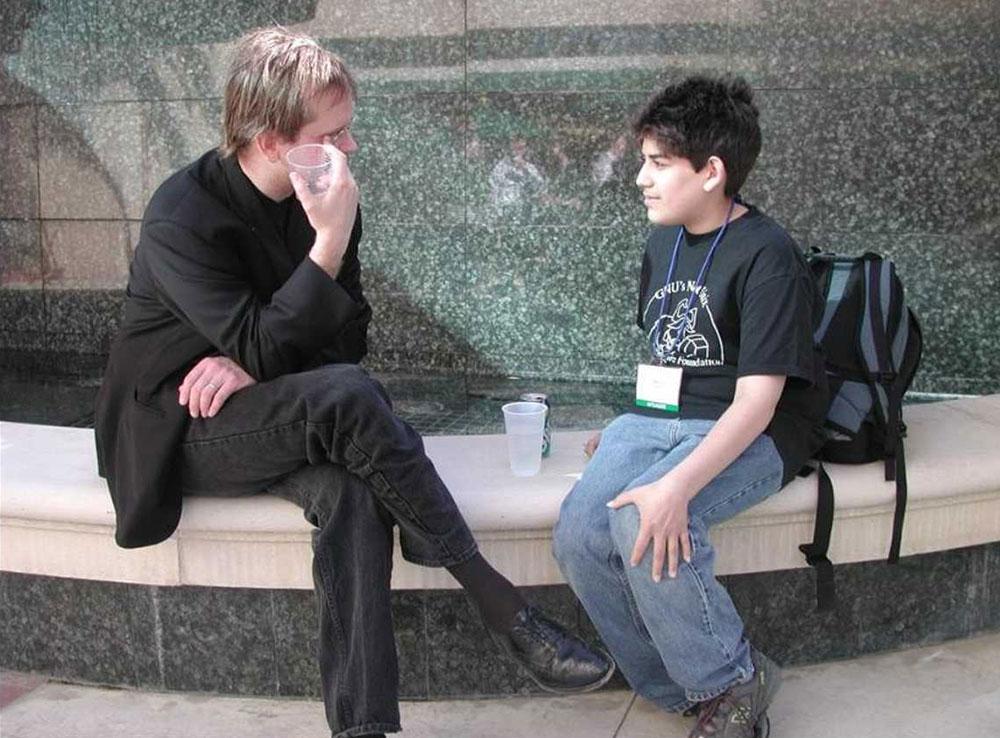 Lawrence Lessig y Aaron Swartz