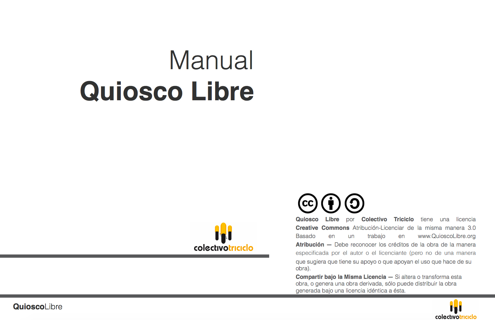 Manual Quiosco libre bajo licencia Creative Commons