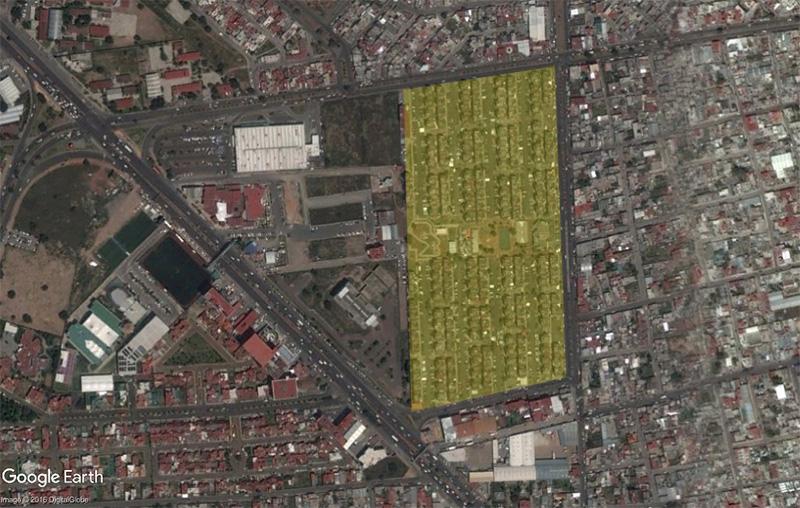 """Vista aérea de la Unidad Habitacional """"El palmar"""""""