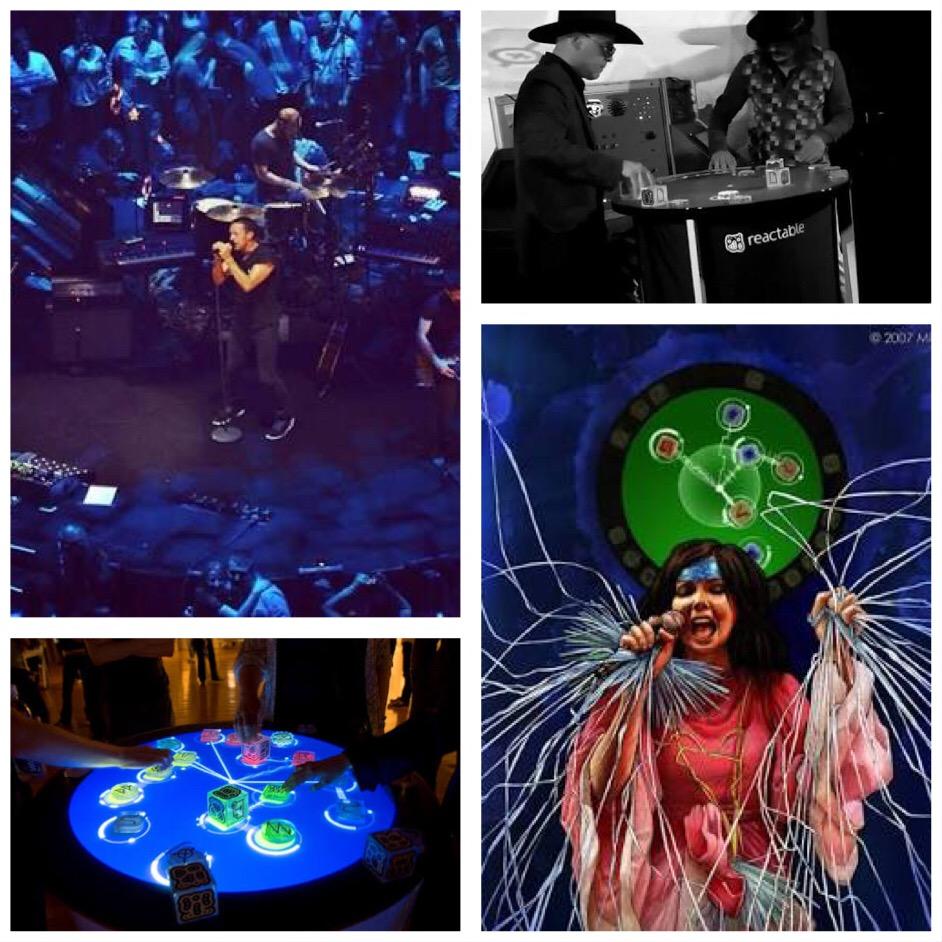 Reactable Bjorke, Nortec, Coldplay