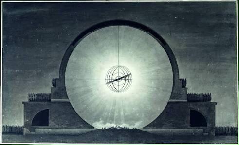 Cenotafio de Newton por Étienne-Louis Boullée