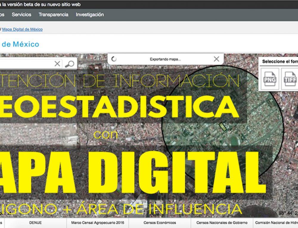 Obtención de información geoestadística: Mapa digital INEGI