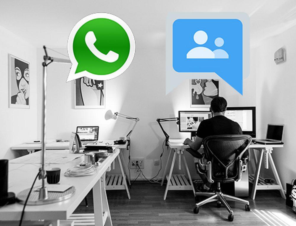 No más grupos de WhatsApp, venga Google Groups